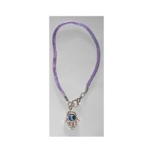 Hamsa Bracelet Oeil cordon violet