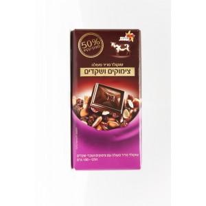 Excellents de chocolat noirraisins secs et les amandes