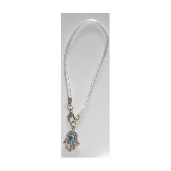 Bracelet Hamsa Oeil cordon Blanc