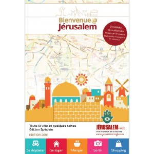 Carte de Jerusalem transports Guide Bienvenue@Jerusalem