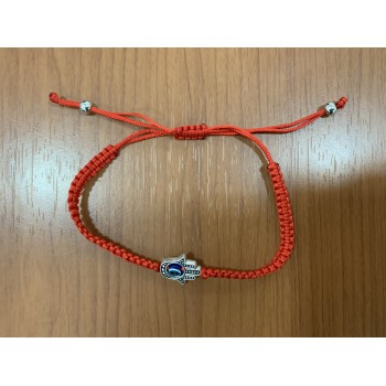 Red thread hand eye bracelet kabalist jerusalem with Hamsa against the evil eye
